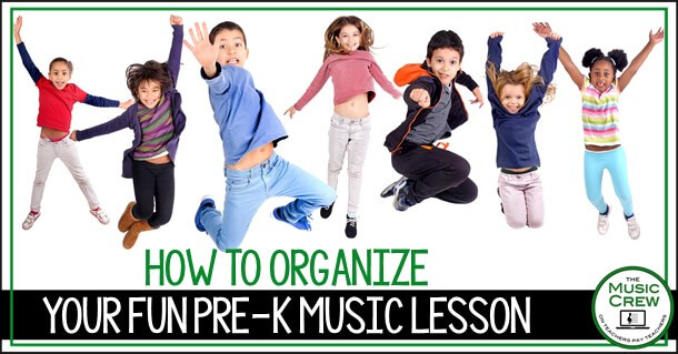 tips for organizing pre-k music lessons