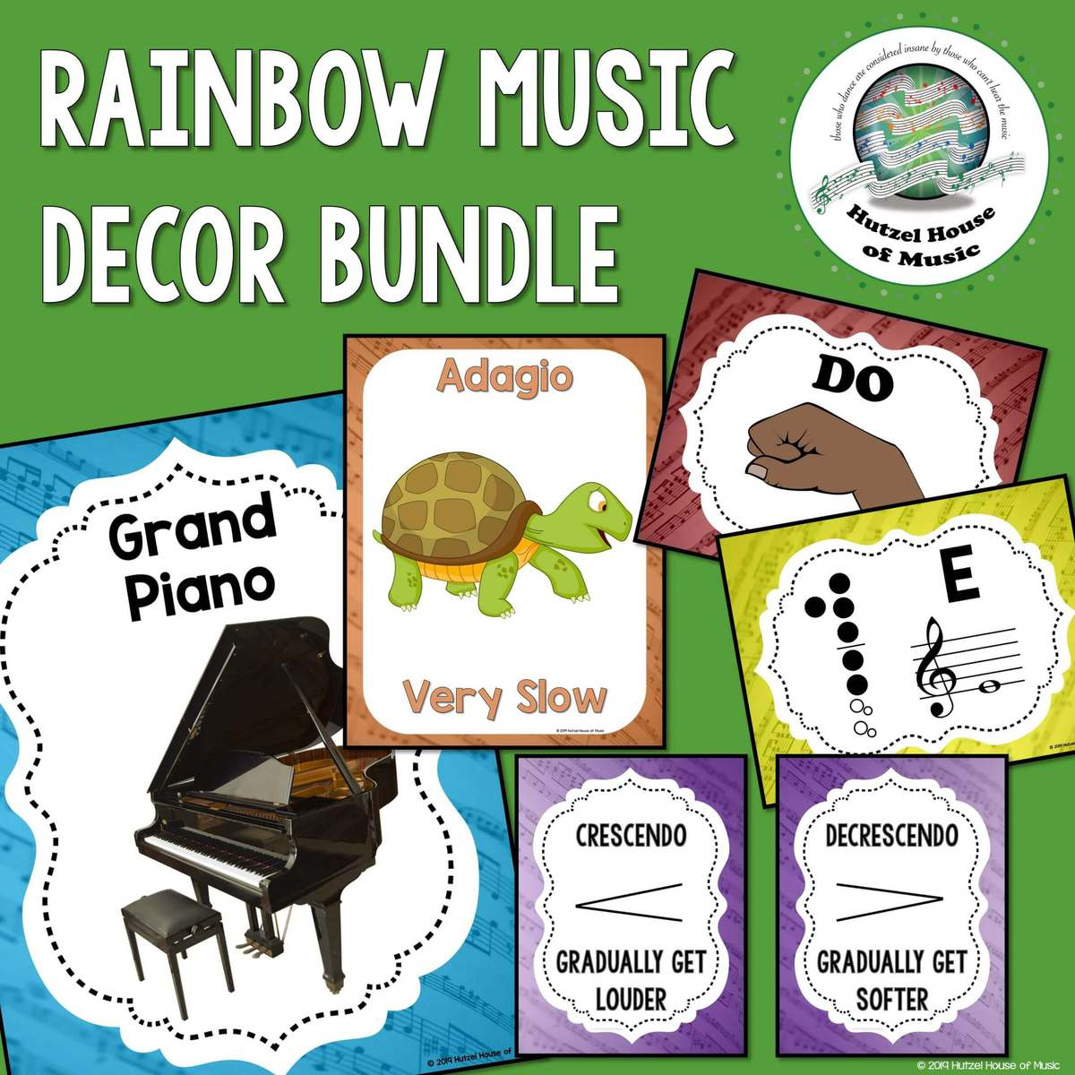 Rainbow Music Decor Bundle